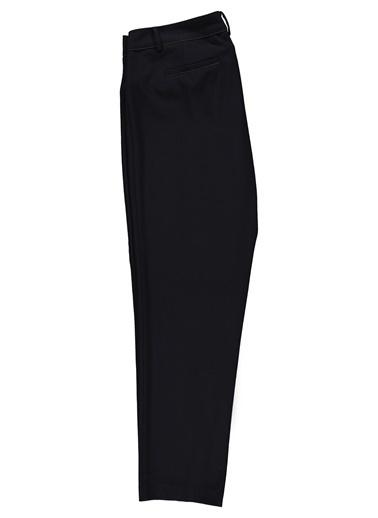 Ekol Ekol 25019368 Geniş Kesim Bilek Boy Kadın Pantolon Siyah